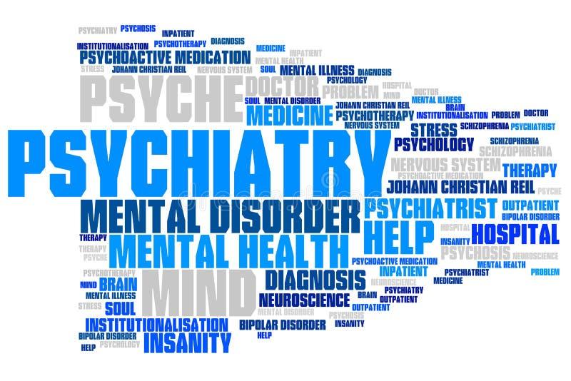 psiquiatría stock de ilustración