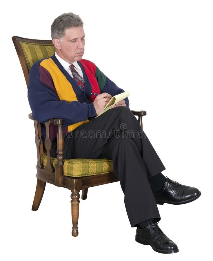 Psiquiatra, Shrink, doutor, conselheiro, terapeuta fotografia de stock royalty free