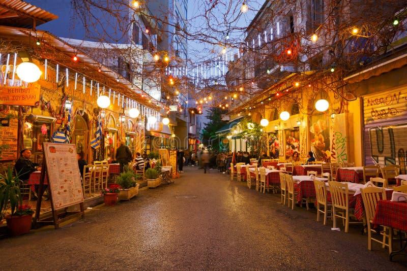 Psirri, Atenas fotos de archivo