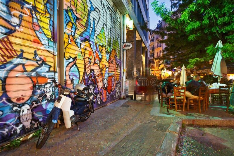 Psirri, Atenas imagenes de archivo
