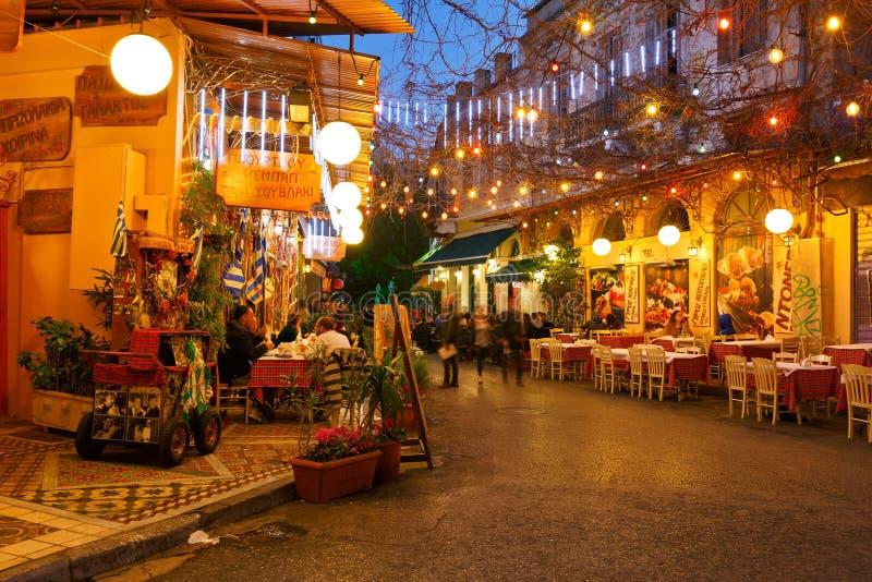 Psirri, Athènes image libre de droits