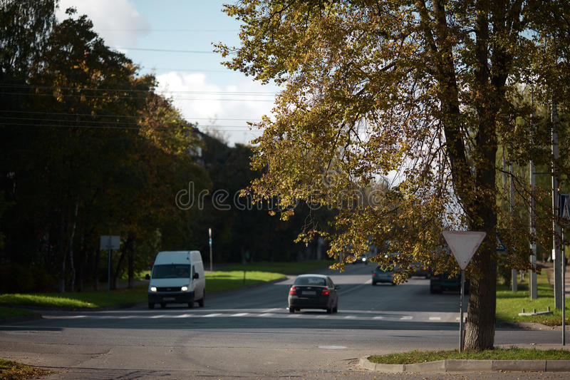Pskov city streets stock images