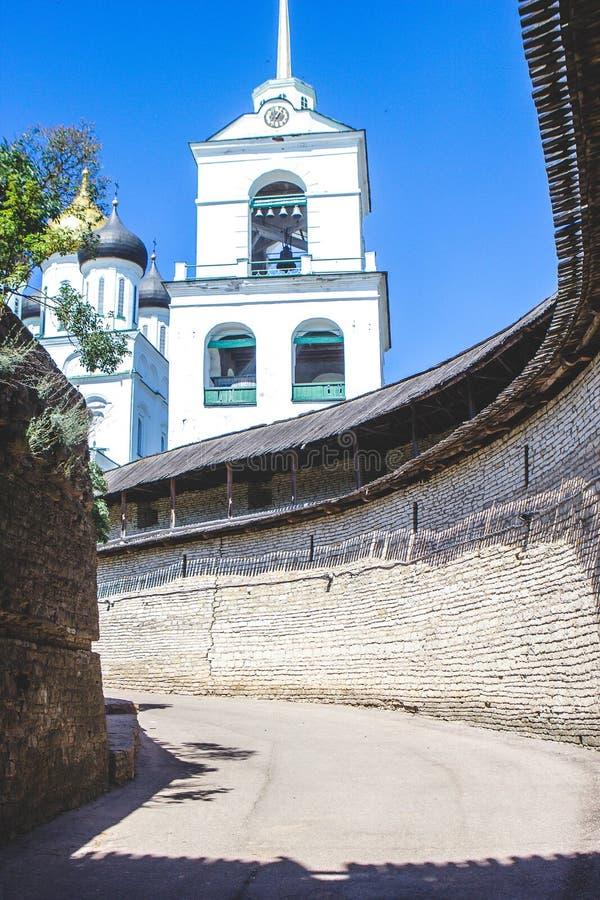 Pskov fästning royaltyfria foton