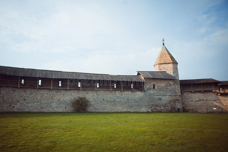 Pskov Kremlin, an ancient citadel in Russia royalty free stock photography