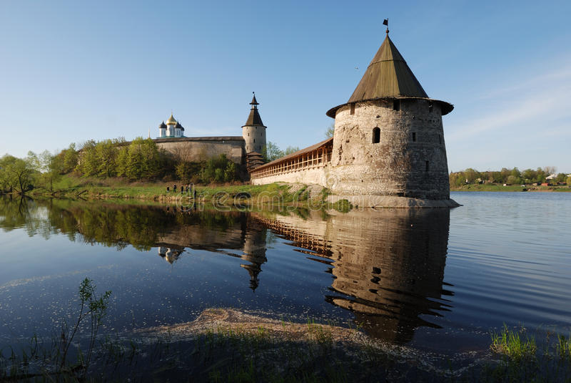 Pskov Kremlin. La Russia immagini stock