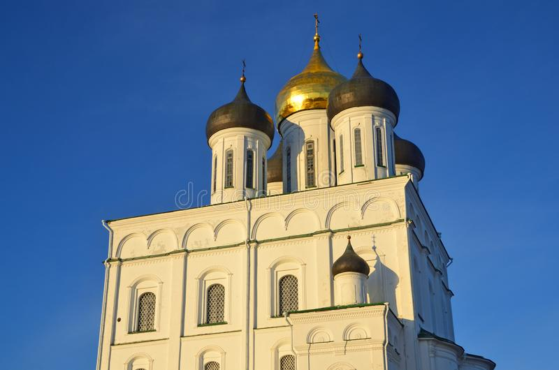 Pskov Kremlin with the Trinity cathedral, Russia royalty free stock images