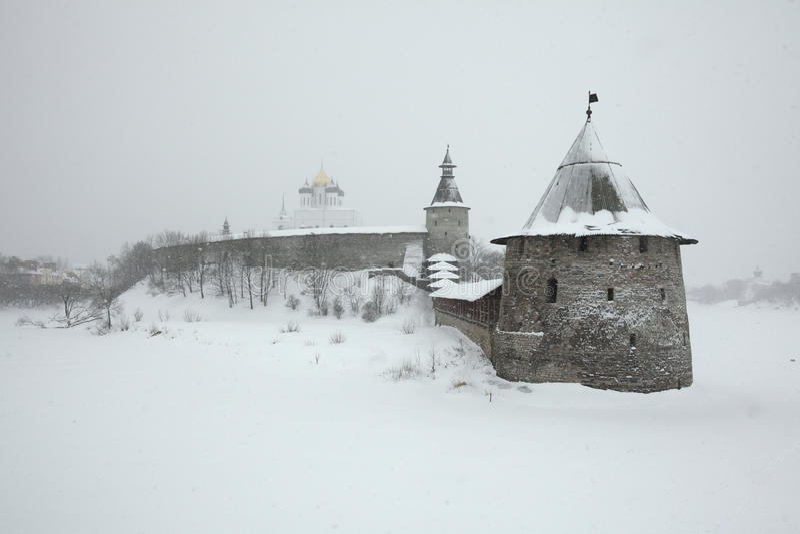 Pskov Kremlin w Pskov, Rosja obraz stock