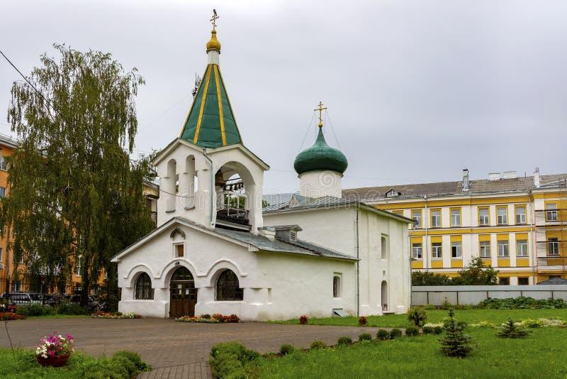 Pskov, la vecchia Chiesa ortodossa di Mid Pentecoste fotografia stock libera da diritti