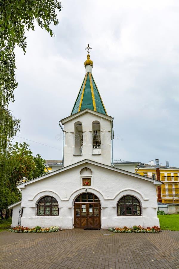 Pskov, la vecchia Chiesa ortodossa di Mid Pentecoste fotografia stock