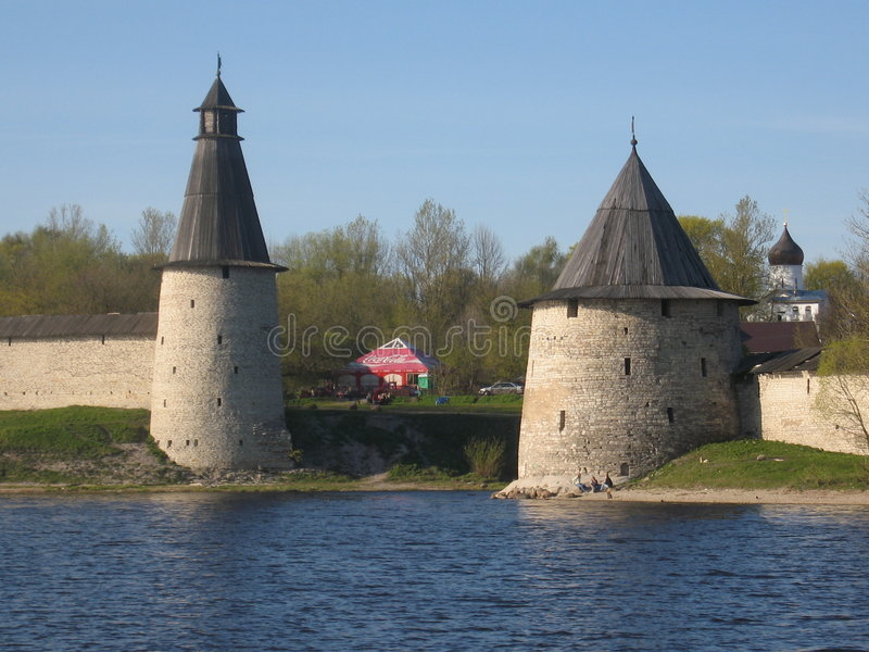 Pskov, Rusland stock foto