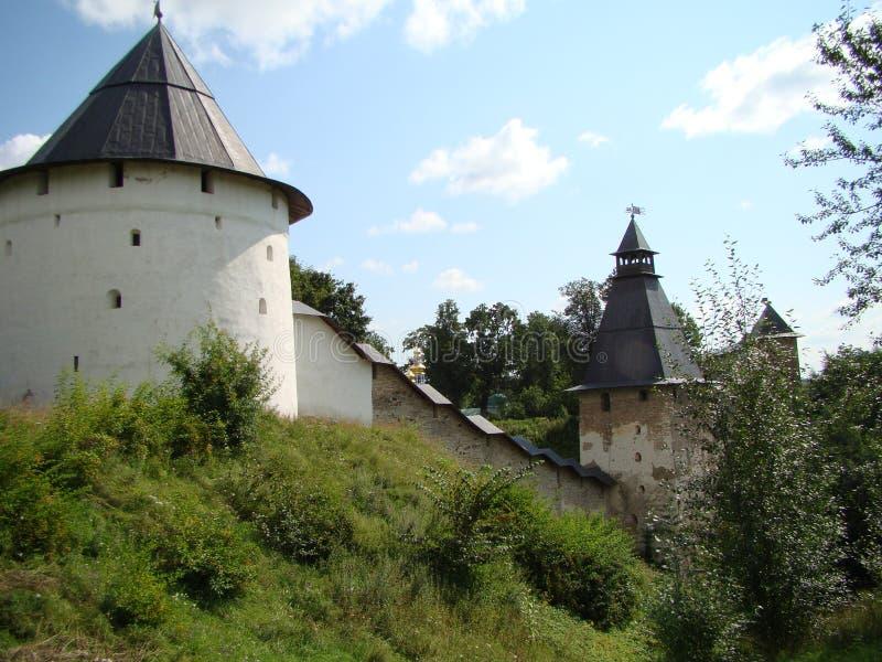 The Pskovo-Pechersk monastery in the summer royalty free stock photo