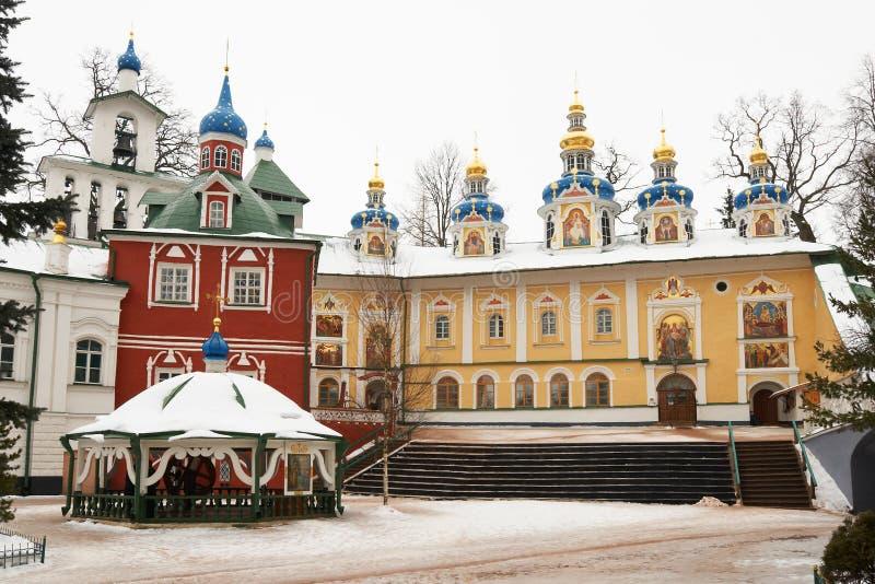 Pskovo-Pechersky monastery stock image