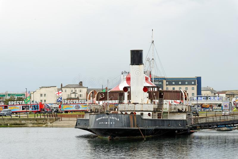 PSS Wingfield Castle, a restored paddle steamer and former passenger ferry stock photos