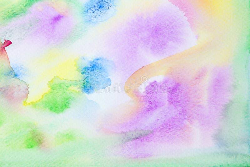 Pstel grön och rosa vattenfärgbakgrund royaltyfria bilder