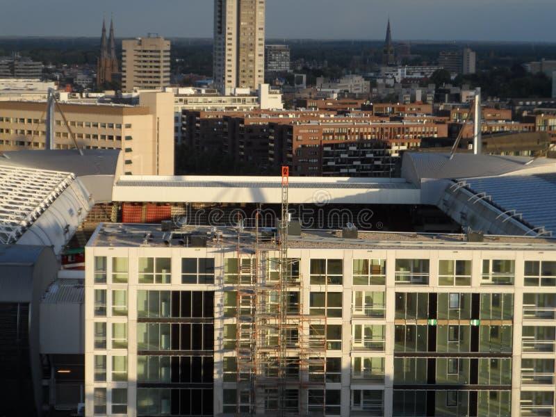 PSV从Hartje艾恩德霍芬的体育场视图 免版税库存图片