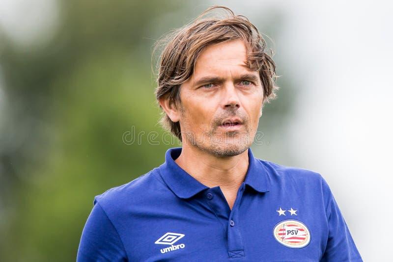 PSV-Trainer Philip Cocu lizenzfreie stockfotos