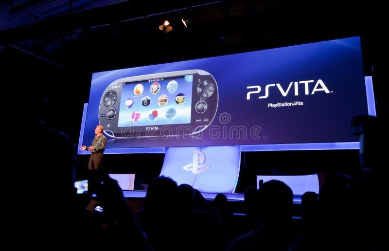 PSVita bei Gamescom 2011 lizenzfreies stockfoto
