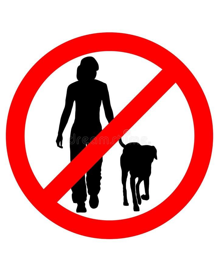 psy chodzić ilustracja wektor