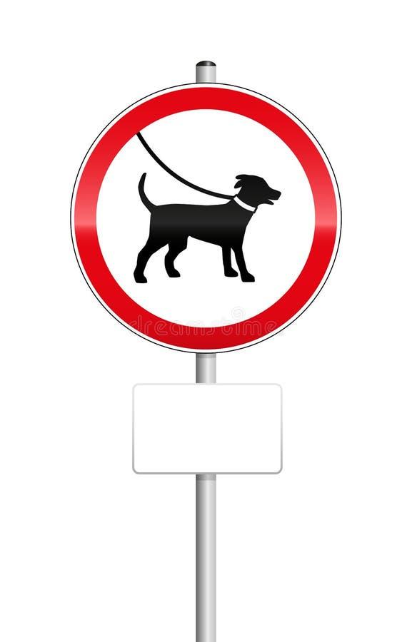 Psy Na smycza znaku ilustracji