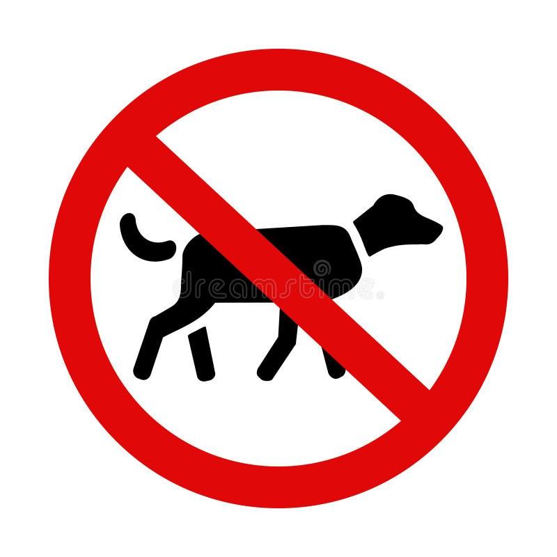 psy nie pozwolić ilustracja wektor