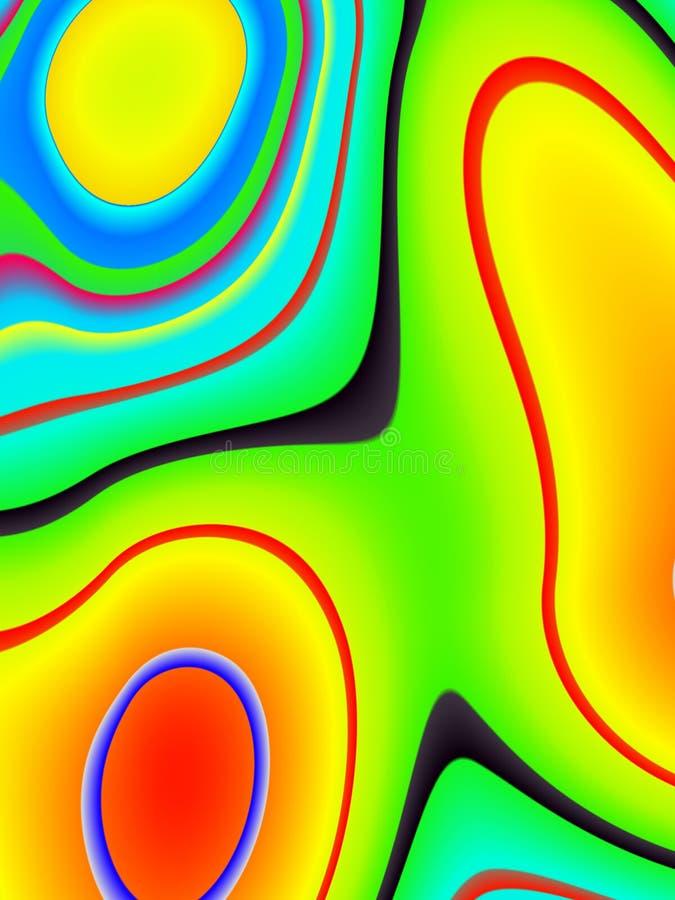 psychadelic swirls för ändring stock illustrationer