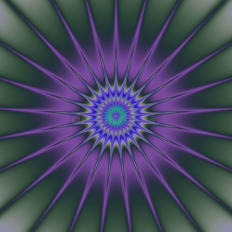 Psychadelic-Zusammenfassungs-Illustrationshintergrund stock abbildung