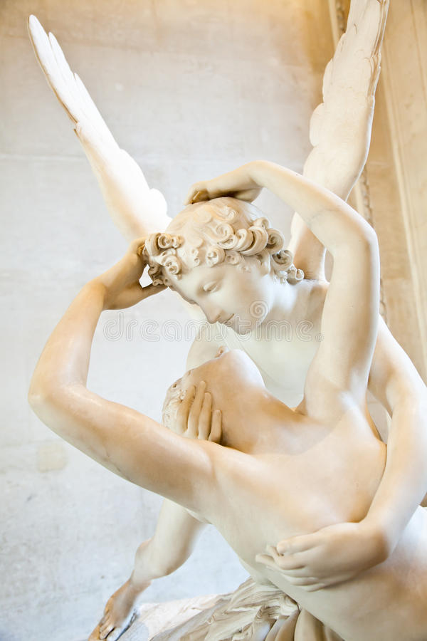 Psyche Revived By Cupid Kiss Stock Photography