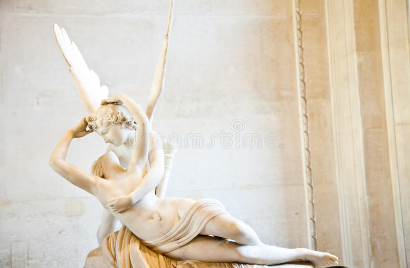 Psyche Revived By Cupid Kiss Royalty Free Stock Images