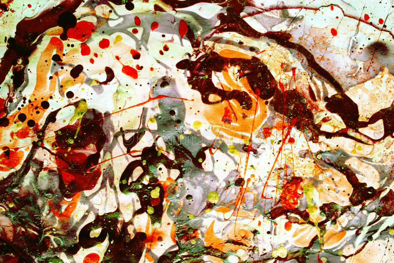 Psychedelic, αφηρημένο υπόβαθρο στους ζωηρούς τόνους στο άσπρο σκηνικό στοκ εικόνα με δικαίωμα ελεύθερης χρήσης