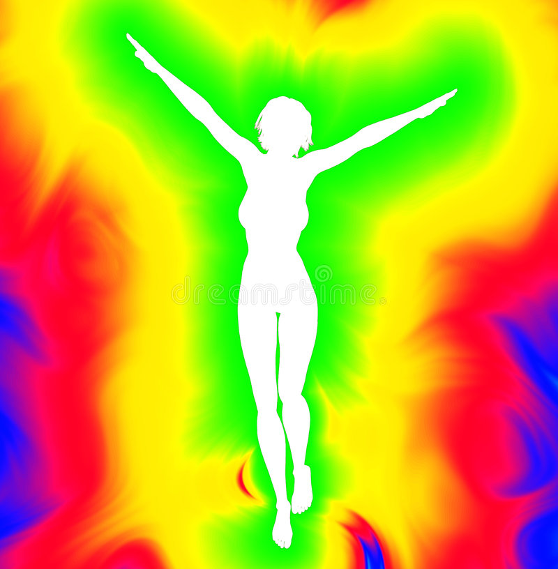 Psychedelic γυναίκες ελεύθερη απεικόνιση δικαιώματος