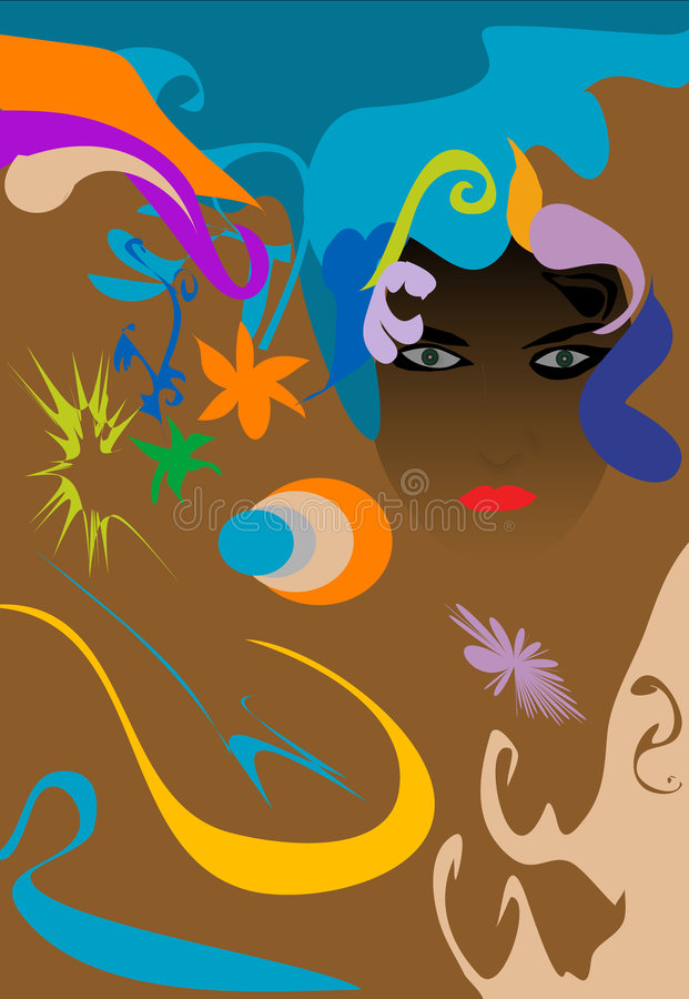 psychedelic φόρος απεικόνιση αποθεμάτων