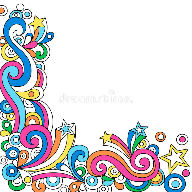 Psychedelic Abstract Notebook Doodle Vector royalty free illustration