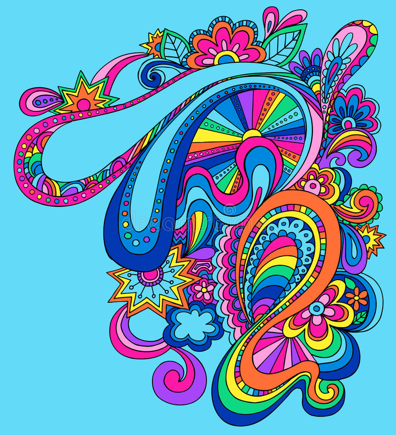 Psychedelic Abstract Vector Illustration stock illustration
