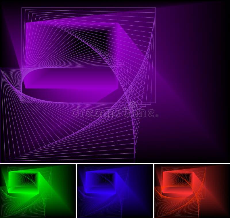 psychedelic abstrakt bakgrund vektor illustrationer