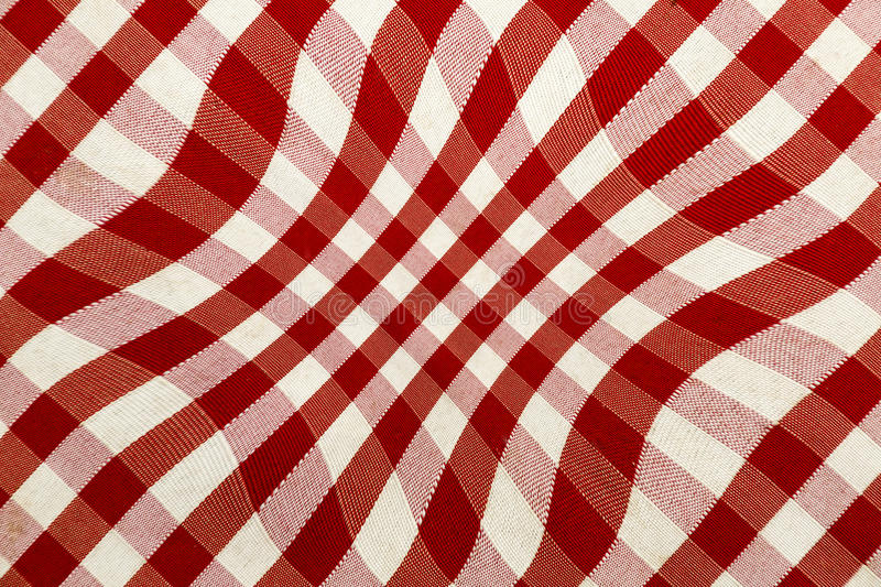 Hypnotic background. White and red hypnotic background stock photo