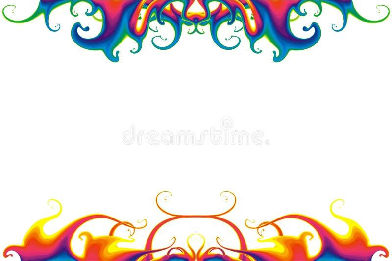 psychedelic bakgrundsflytande royaltyfri illustrationer