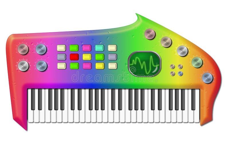 Download Psychedelic Bizarre Keyboard Stock Illustration - Illustration: 8469624