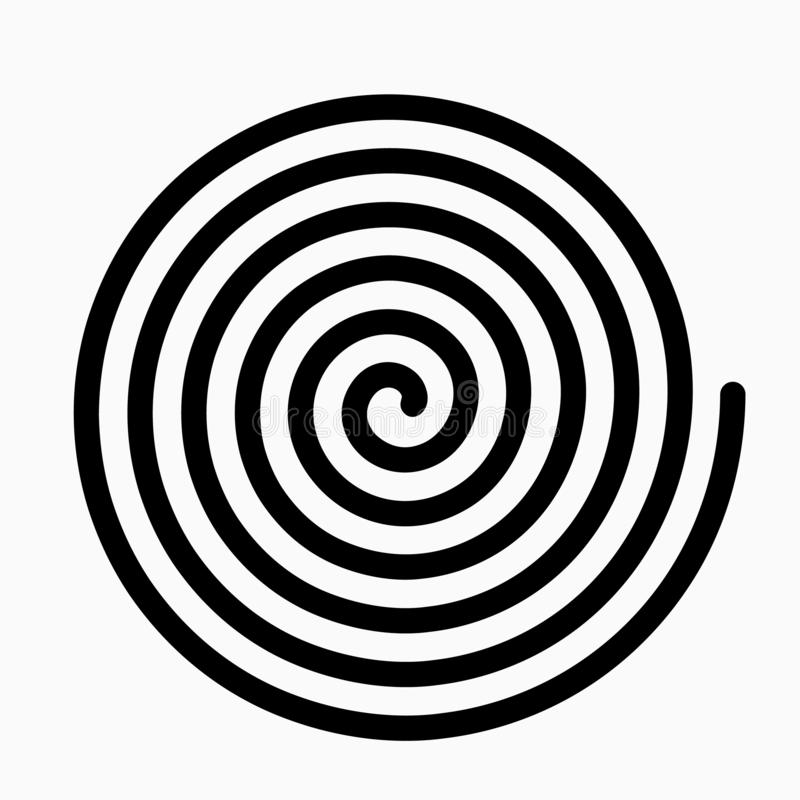 Psychedelic figure of a spiral, circulation. flat vector illustration. Isolated royalty free illustration