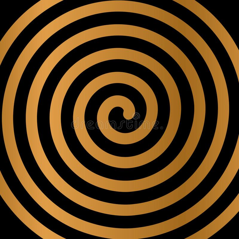 Psychedelic figure of a spiral, circulation. flat vector illustration. Isolated stock illustration