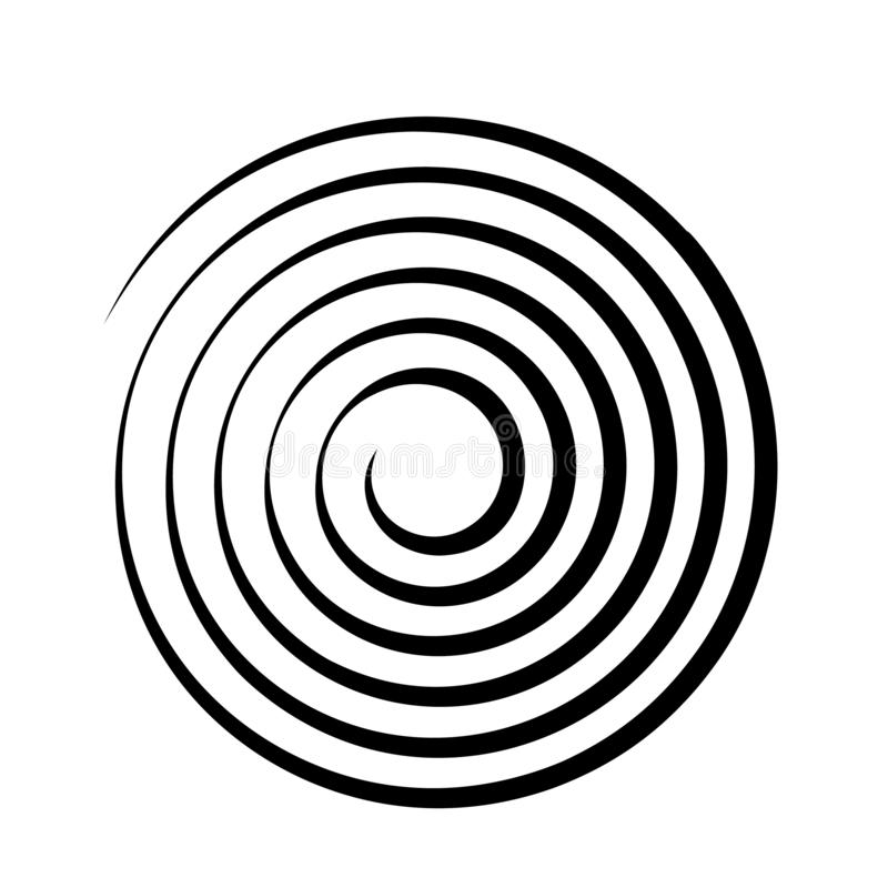 Psychedelic figure of a spiral, circulation. flat vector. Illustration isolated royalty free illustration