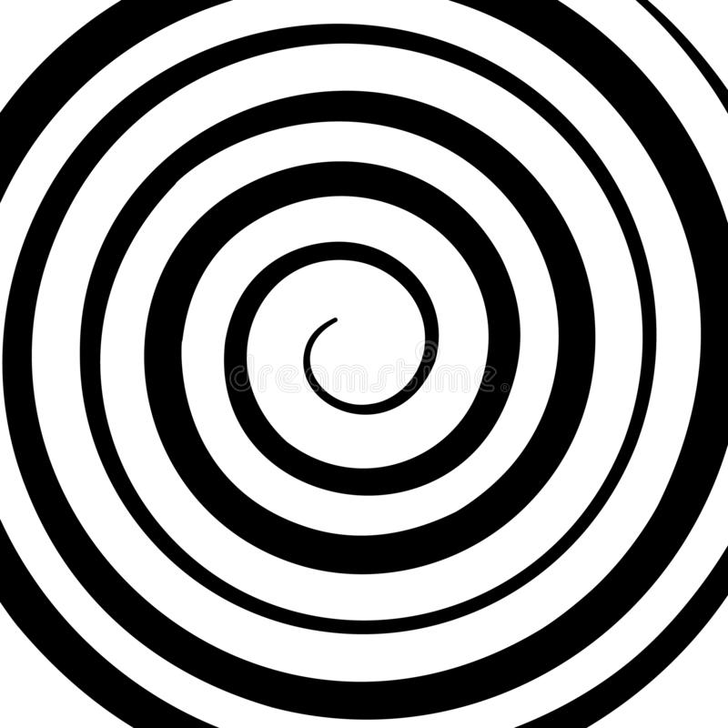 Psychedelic figure of a spiral, circulation. flat vector. Illustration isolated stock illustration