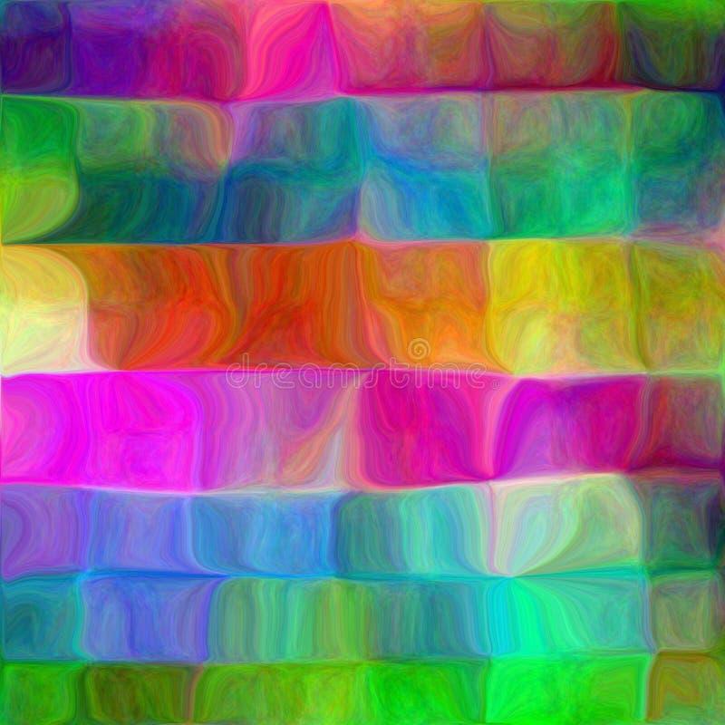 psychedelic fluid mosaik royaltyfri illustrationer