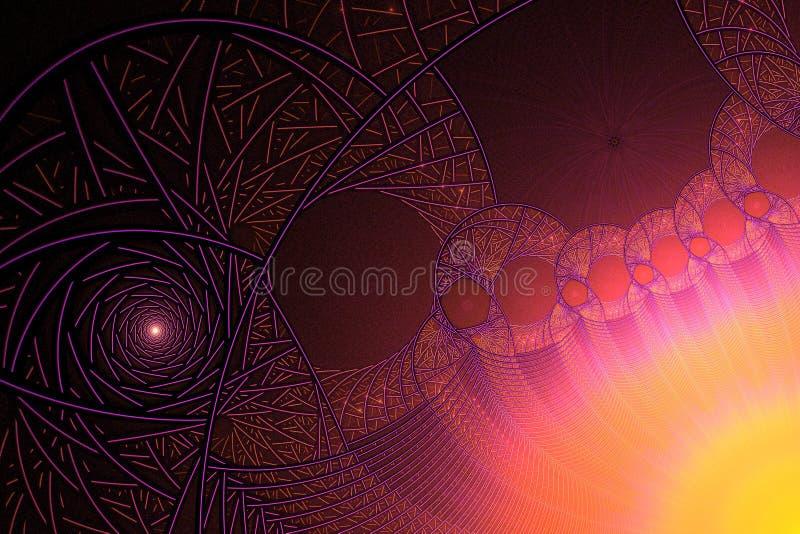 Psychedelic fractal ήλιων διανυσματική απεικόνιση