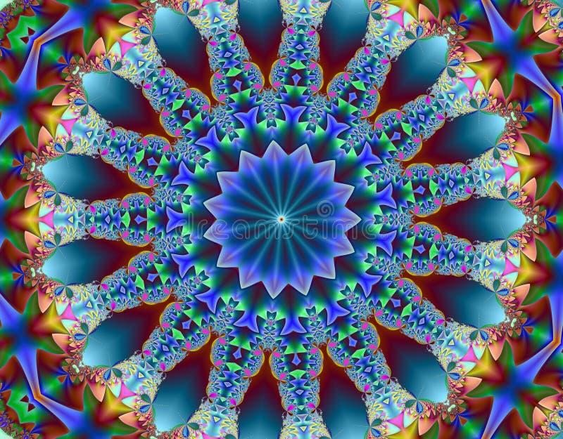 Psychedelic fractal royalty free illustration