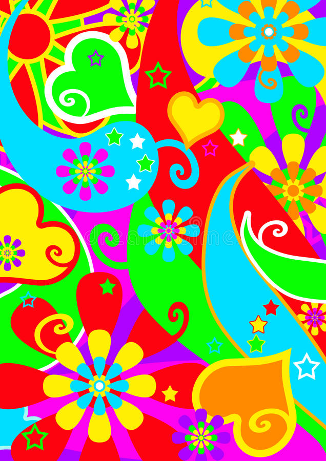 psychedelic funkspår stock illustrationer