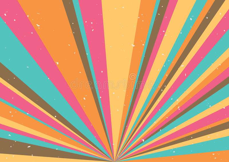 Psychedelic geometric retro background vector illustration