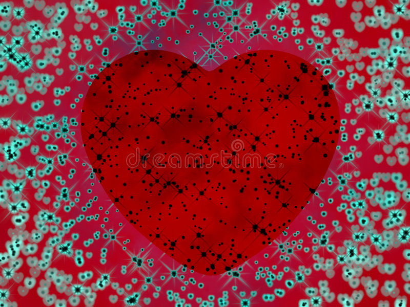 Psychedelic heart royalty free stock photos