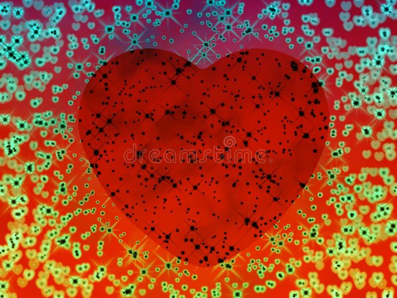 psychedelic hjärta vektor illustrationer