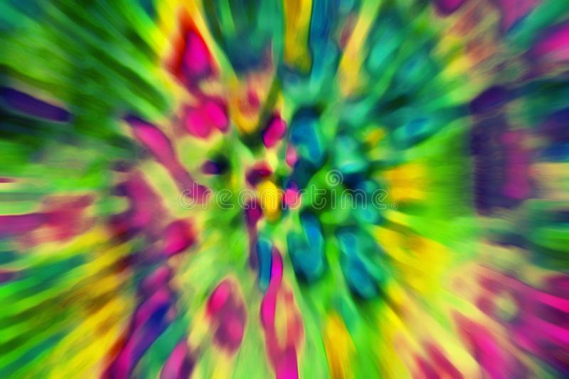 Psychedelic multicolored abstract background image. Motion blur royalty free stock photo