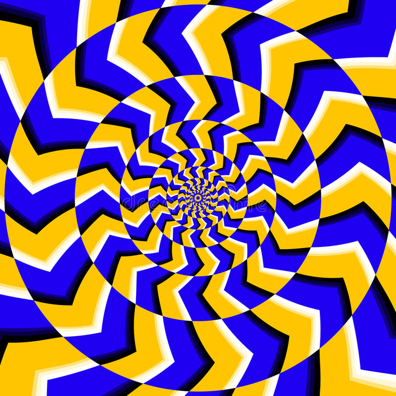 Psychedelic optical spin illusion vector background stock illustration